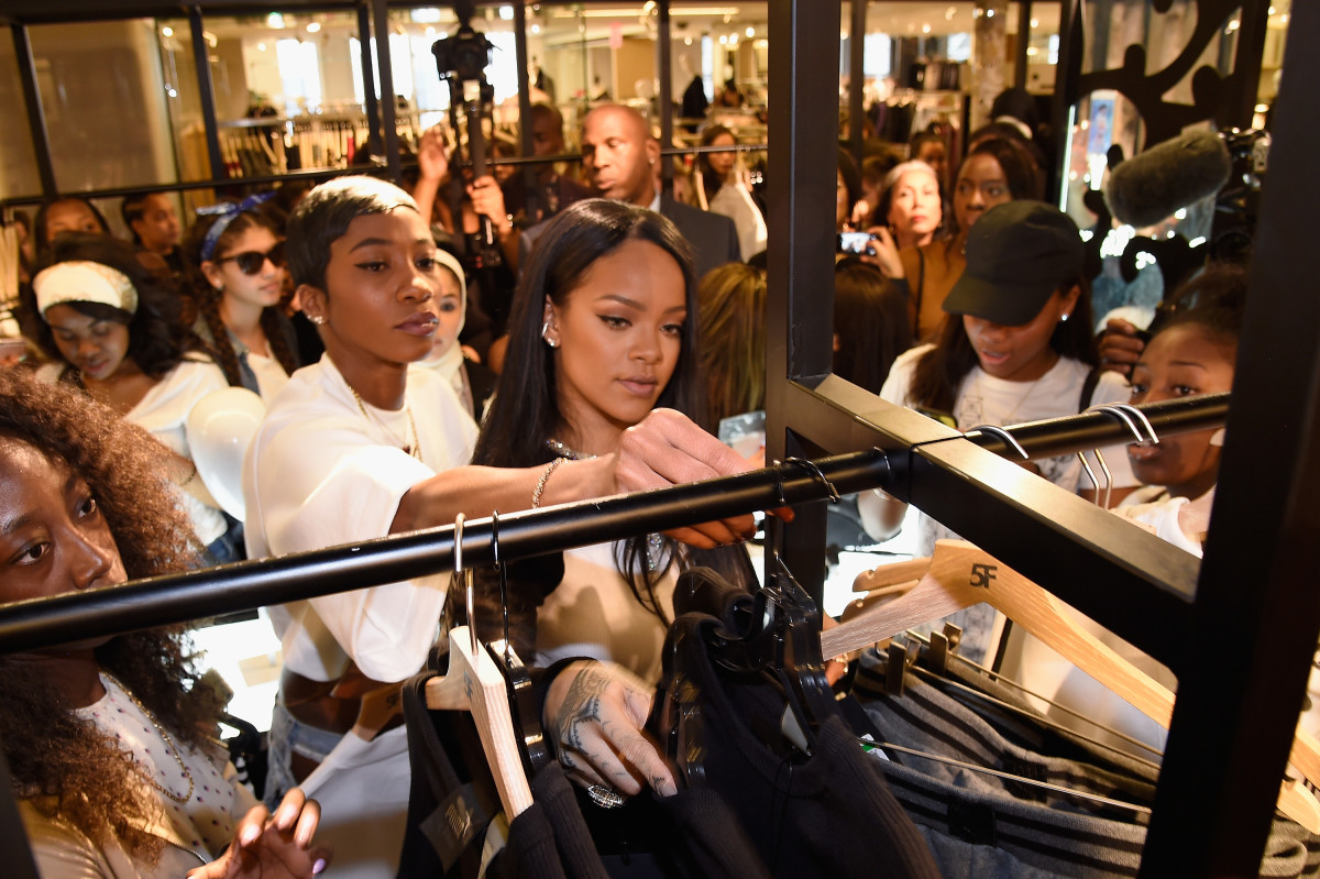 Rihanna celebrates the launch of her collection, Fenty Puma by Rihanna, with Bergdorf Goodman in September. Photo: Kevin Mazur/Getty Images for FENTY PUMA by Rihanna
