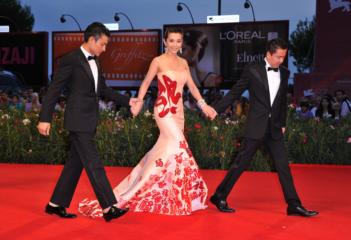 Chinese actress Li Bingbing often wears Guo Pei on the red carpet, as seen here at the 2010 Venice Film Festival. Photo: Pascal Le Segretain/Getty Images