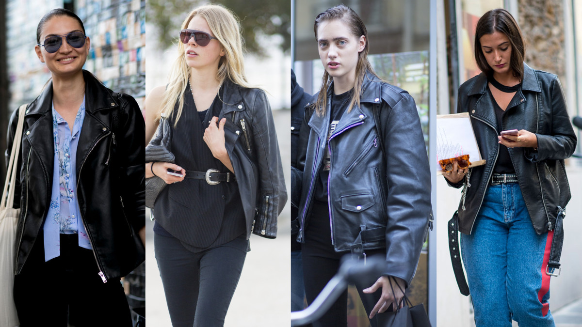 Leather jacket weather