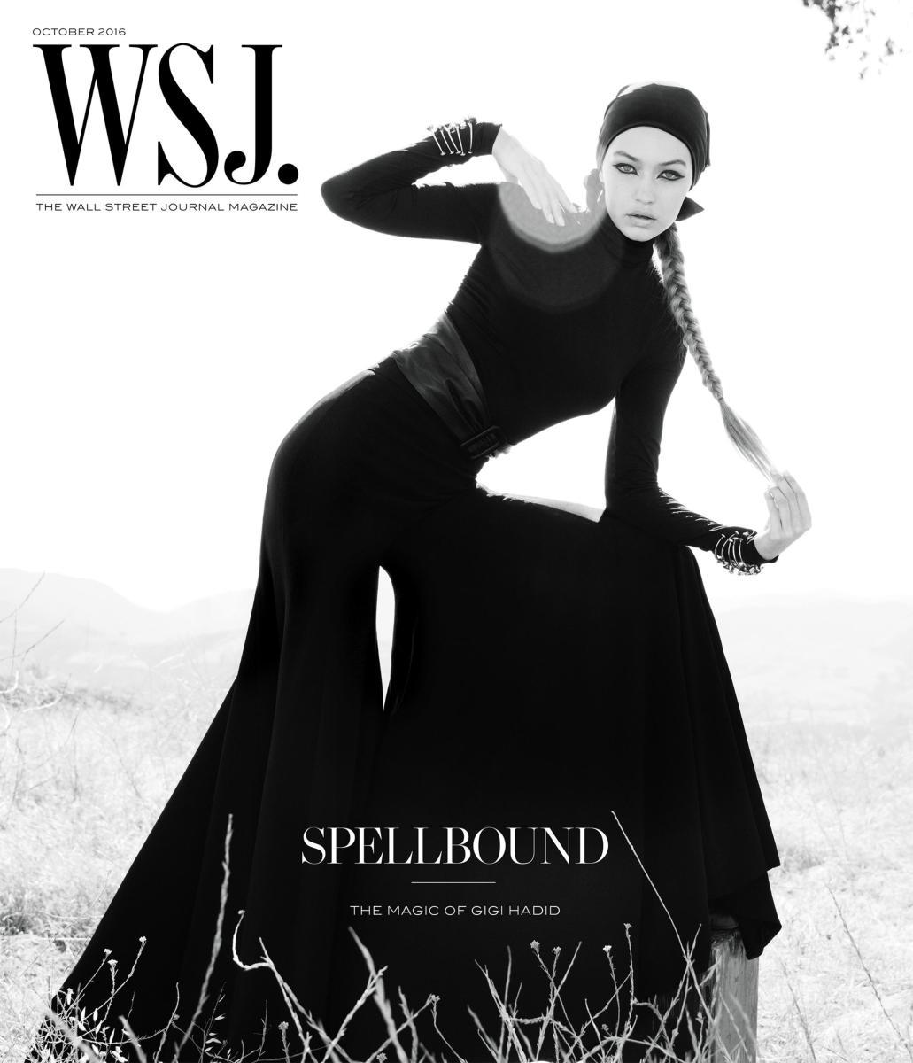 Gigi Hadid wears Brandon Maxwell on the cover of 'WSJ. Magazine,' styled by George Cortina. Photo: Inez & Vinoodh/WSJ. Magazine