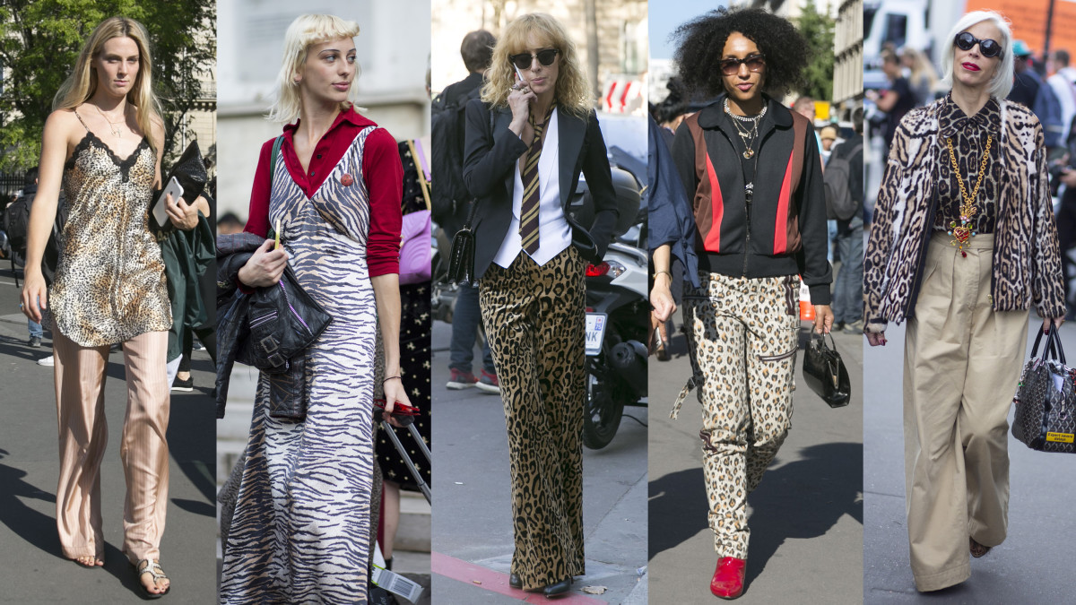 On the streets of Paris Fashion Week. Photos from left to right: Emily Malan/Fashionista, Chiara Marina Grioni/Fashionista, Emily Malan/Fashionista (2), Chiara Marina Grioni/Fashionista
