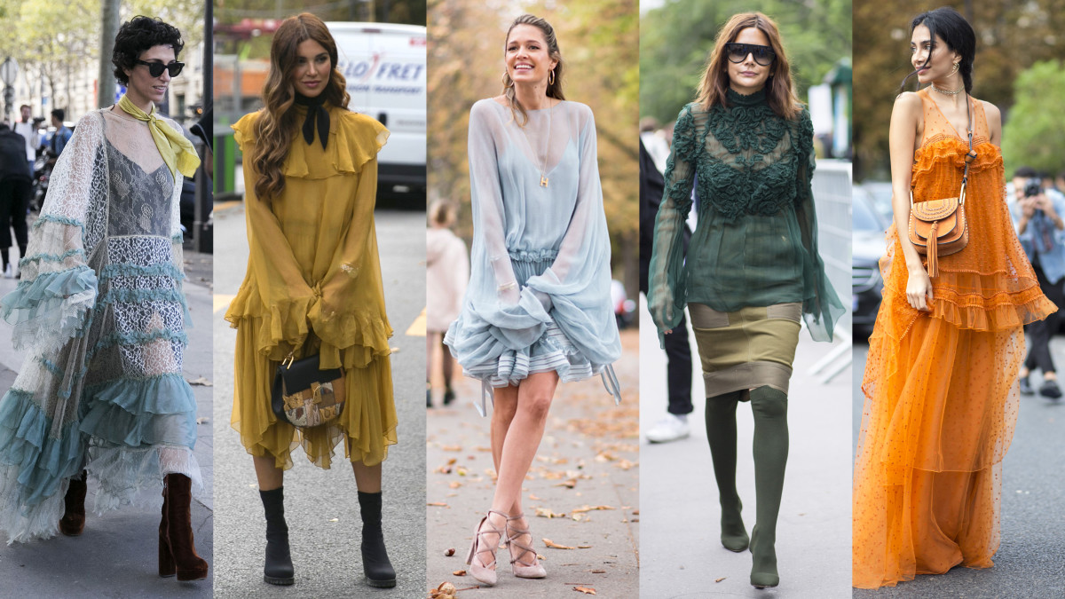 Photos from left to right: Emily Malan/Fashionista (2), Imaxtree, Chiara Marina Grioni/Fashionista (2)
