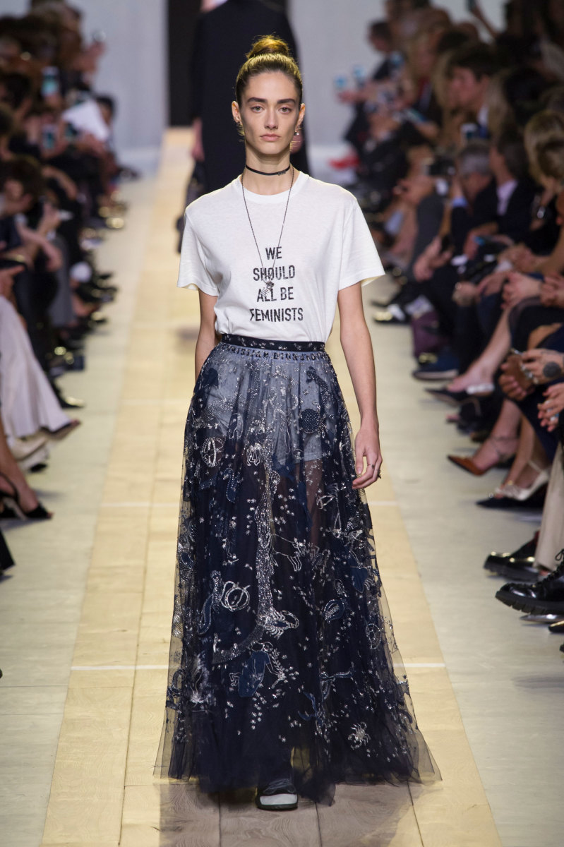 A look from Dior's spring 2017 collection. Photo: Imaxtree