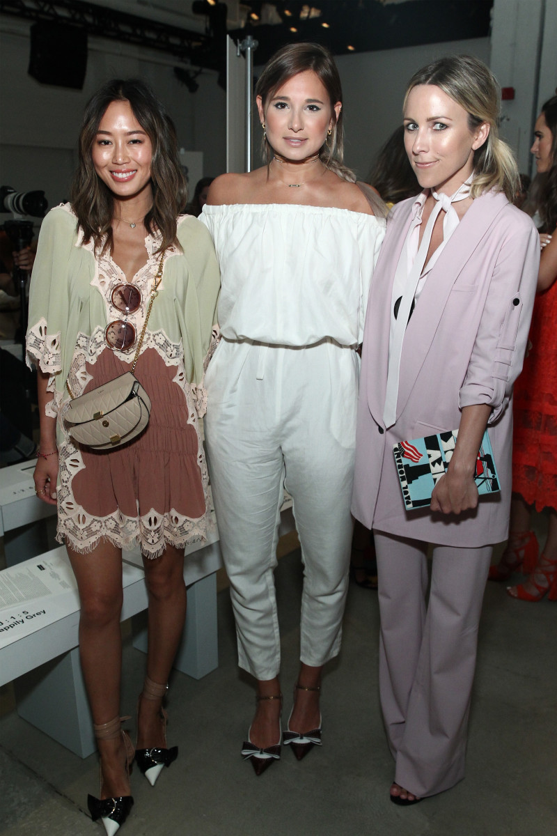 Aimee Song, Danielle Bernstein and Jacey Duprie are all bloggers/influencers. Photo: Getty Images