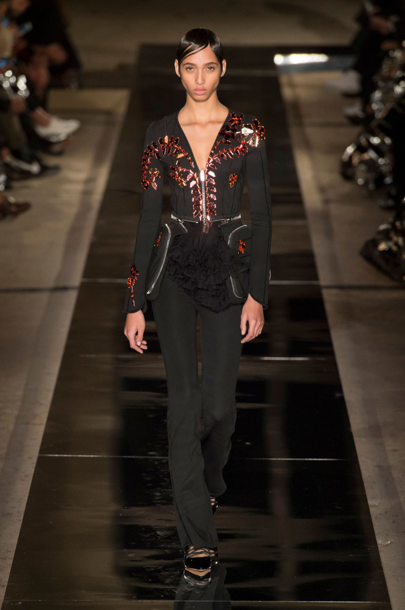 A look from Givenchy's spring 2017 collection. Photo: Imaxtree