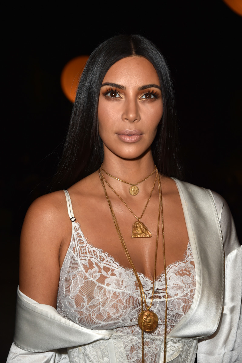 Kim Kardashian at the Givenchy spring 2017 show in Paris. Photo: Pascal Le Segretain/Getty Images