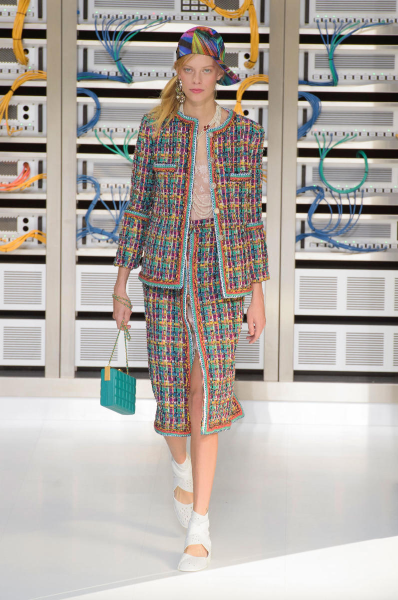 A look from Chanel's spring 2017 collection. Photo: Imaxtree