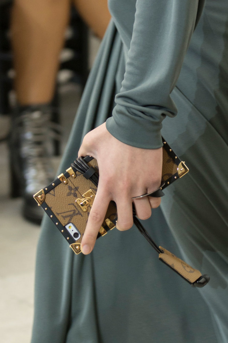 A phone case from Louis Vuitton's spring 2017 collection. Photo: Imaxtree