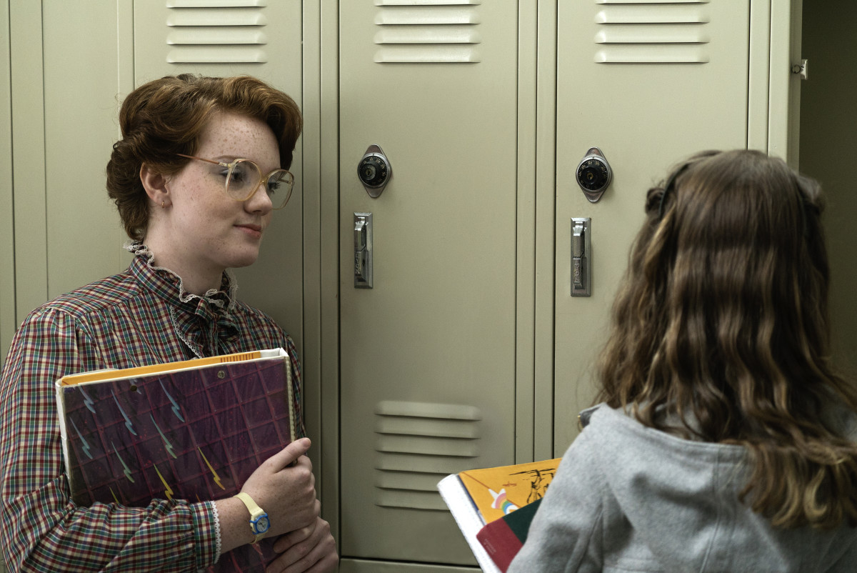 """Barb, noted style icon, and Nancy in """"Stranger Things."""" Photo: Netflix"""