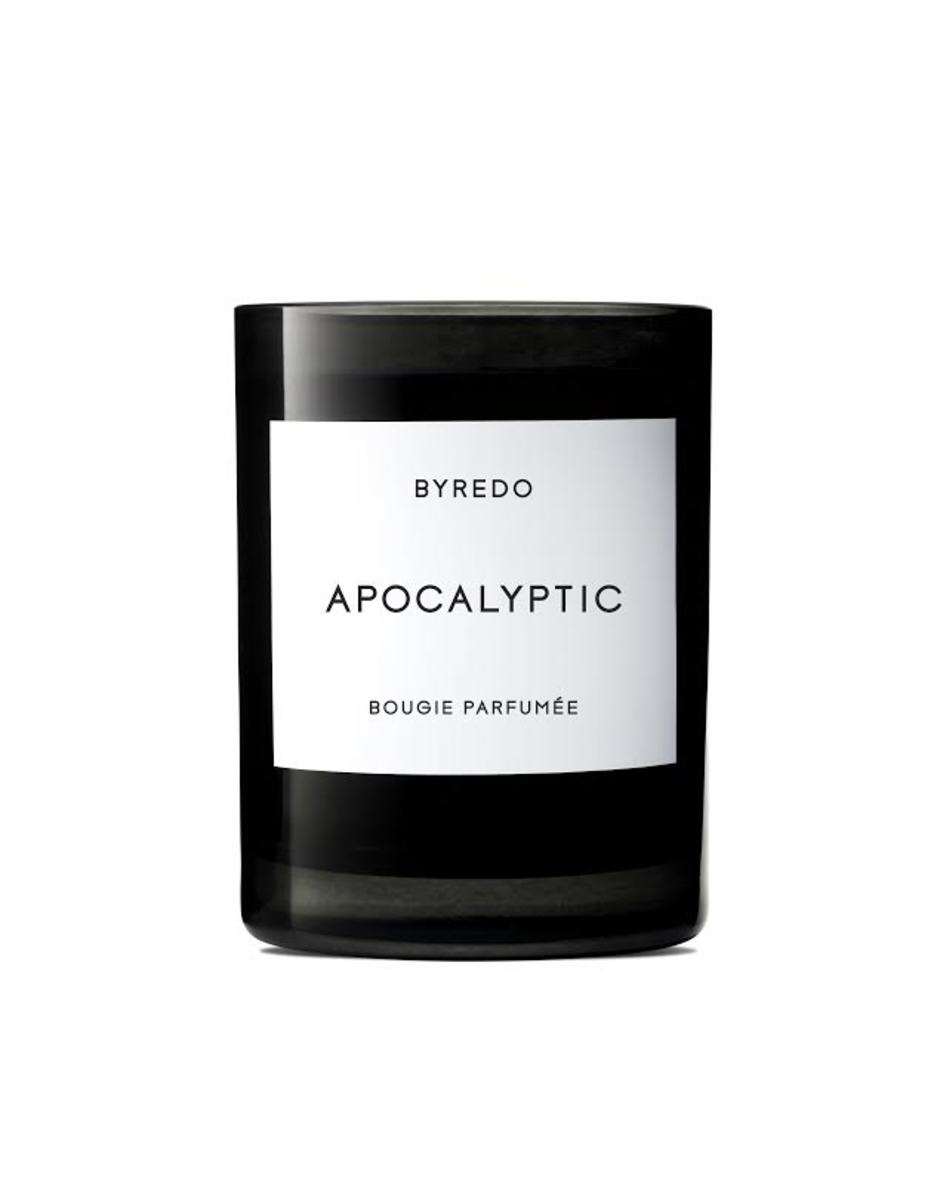 Byredo Apocalyptic candle, $80, available at Barneys New York. Photo: Courtesy of Byredo