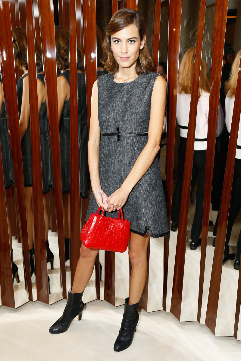 Alexa Chung attends a Longchamp cocktail event in Paris. Photo: Julien Hekimian/Getty Images