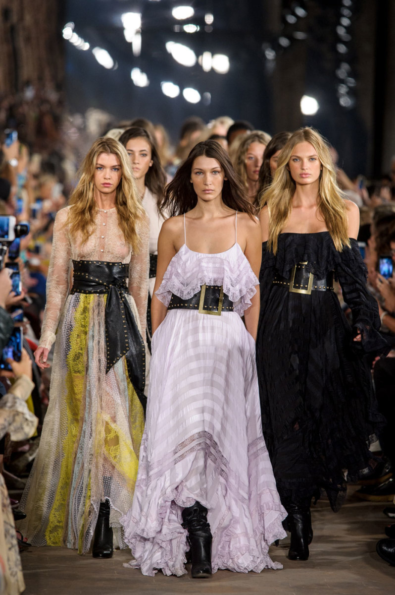 The finale at Philosophy di Lorenzo Serafini. Photo: Imaxtree