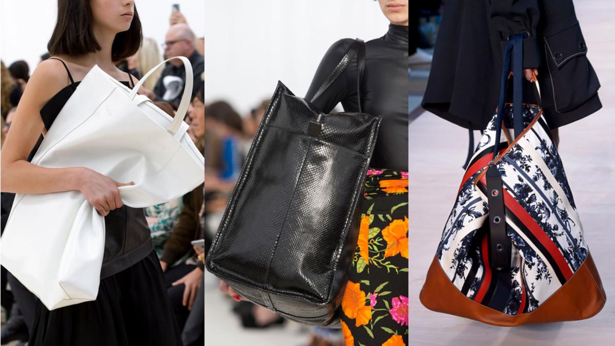 From left: Celine, Balenciaga and Sonia Rykiel. Photos: Imaxtree