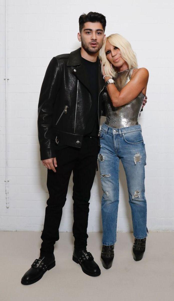 Zayn Malik and Donatella Versace. Photo: Versace