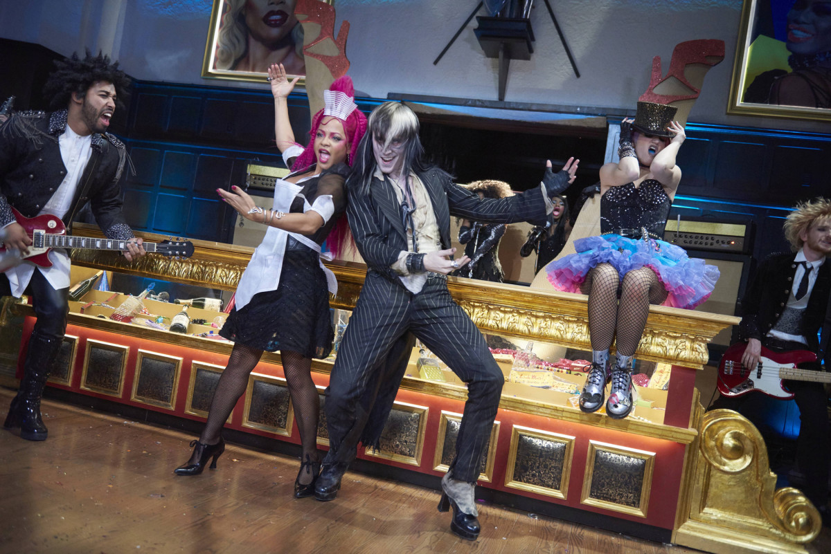 Magenta (Christina Millian), Riff Raff (Reeve Carney) and Columbia (Annaleigh Ashford). Photo: Steve Wilkie/FOX