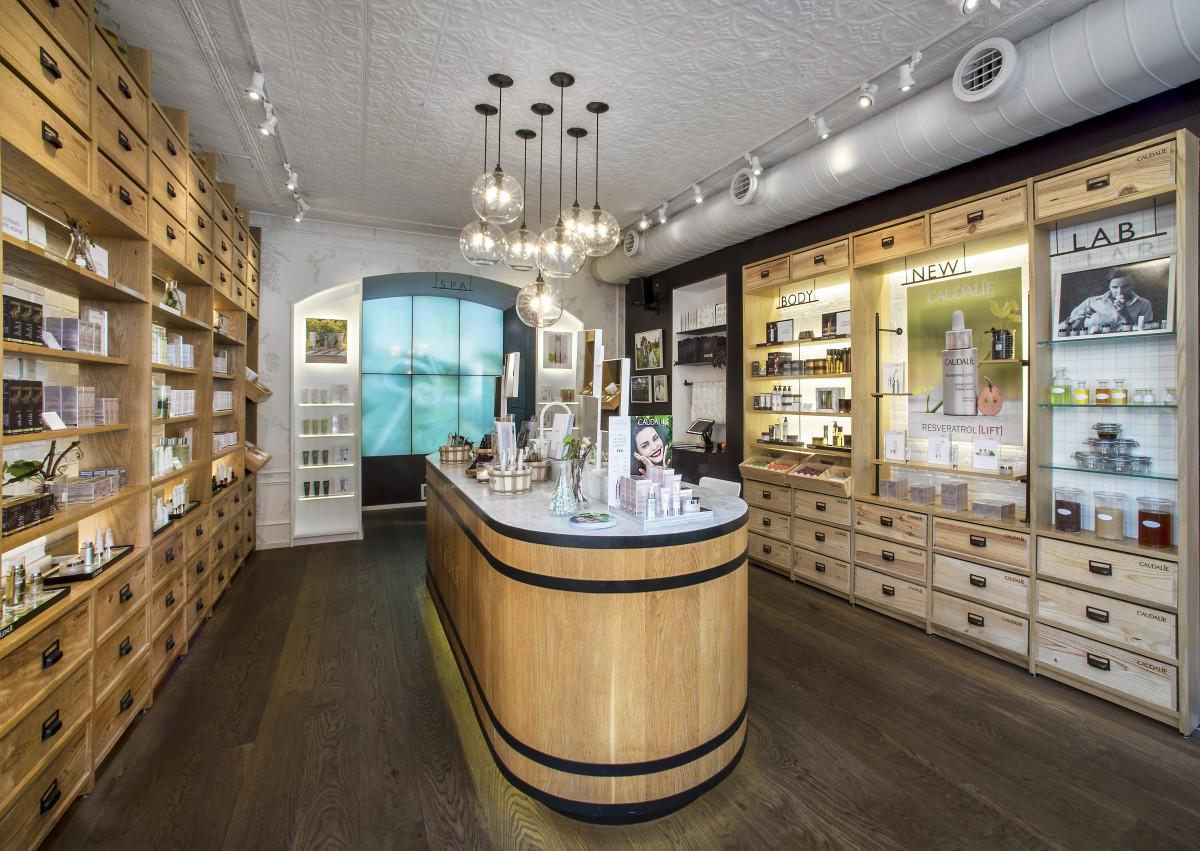 Inside the Caudalie Bleecker Street boutique. Photo: Courtesy of Caudalie