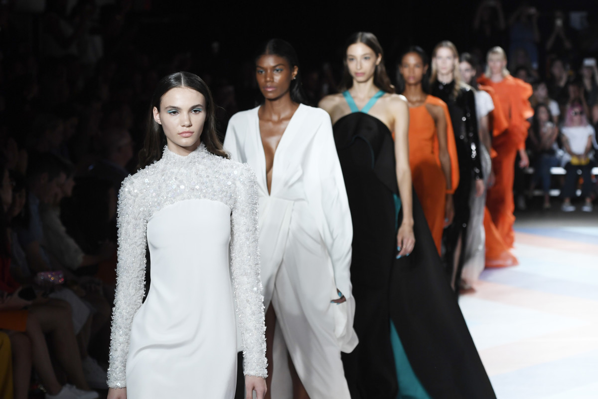 Christian Siriano's Spring 2017 runway. Photo: Getty Images