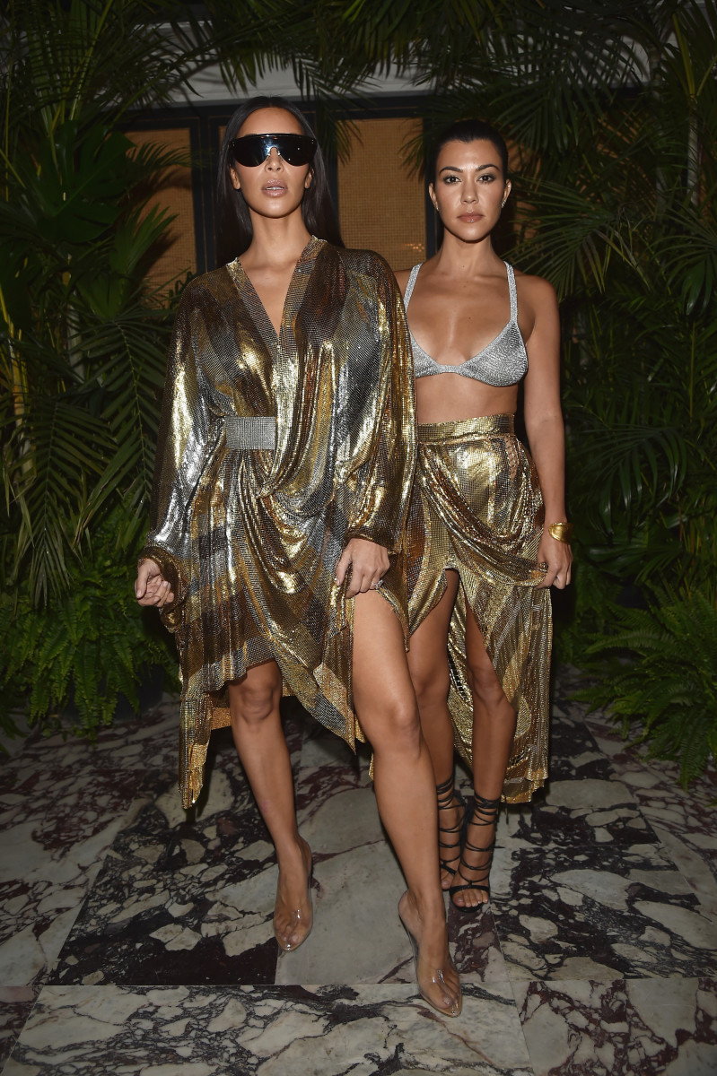 Of course, Kim and Kourtney wearripped-from-the-Balmain-spring-2017-runway looks — and right to theafter-party, no less. Photo: Jacopo Raule/Getty Images
