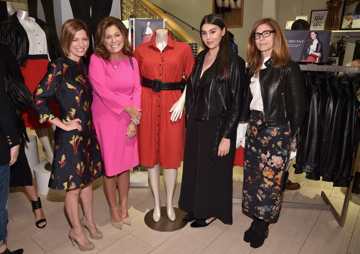 'Glamour' magazine's Editor in Chief Cindi Leive, Publisher Connie Anne Phillips, Fashion Features Editor Lauren Chan and Deputy Fashion Director Sasha Iglehart at the 'Glamour' x Lane Bryant collection launch on Thursday. Photo: Bryan Bedder/Getty Images for 'Glamour'