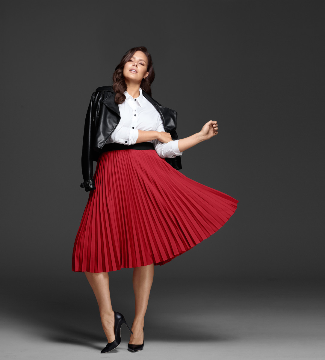 Candice Huffine models the 'Glamour' x Lane Bryant October collection. Photo: Glamour x Lane Bryant