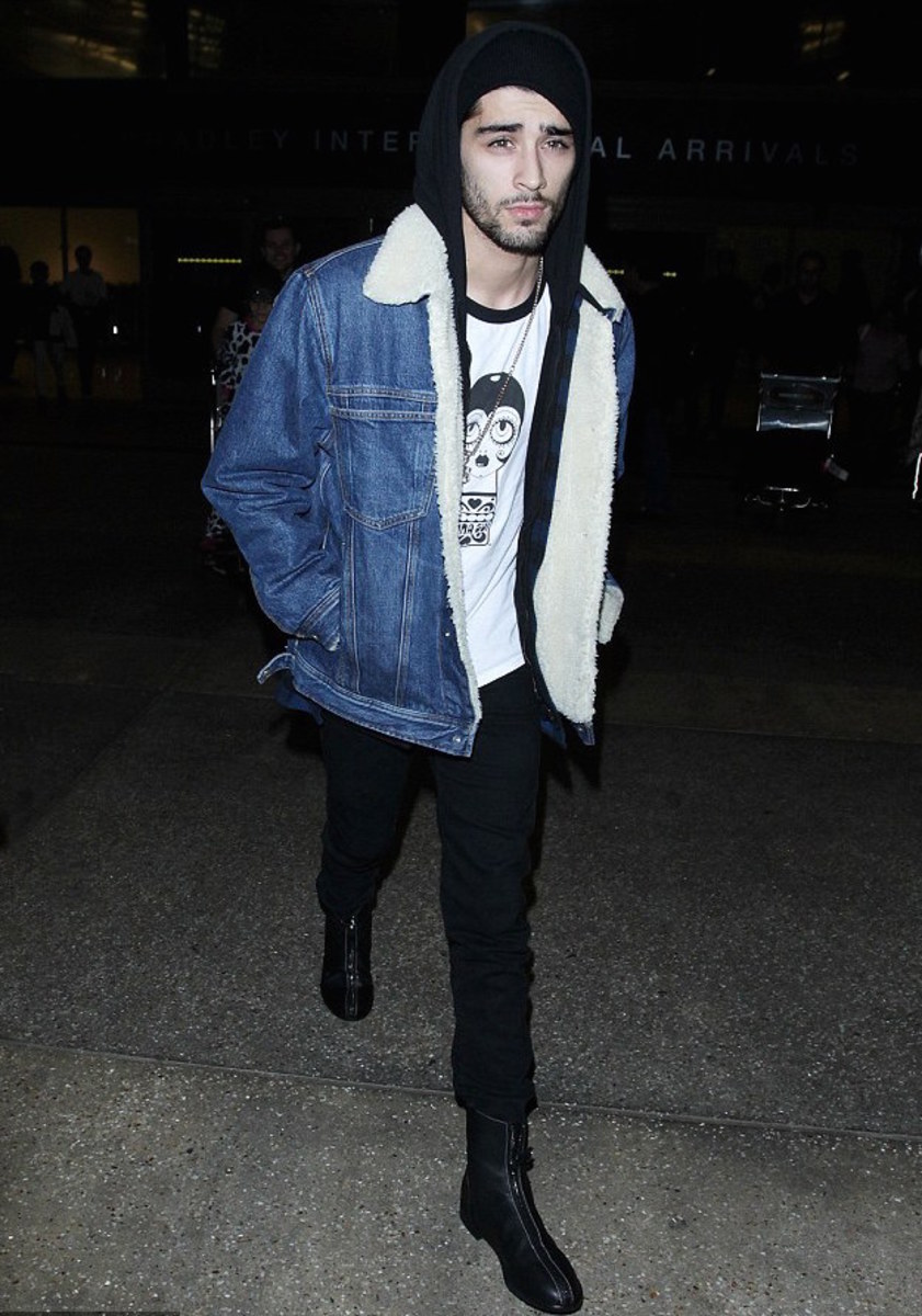 Zayn Malik in Tommy Jeans and Giuseppe for Zayn boots. Photo: CALA/BroadImage