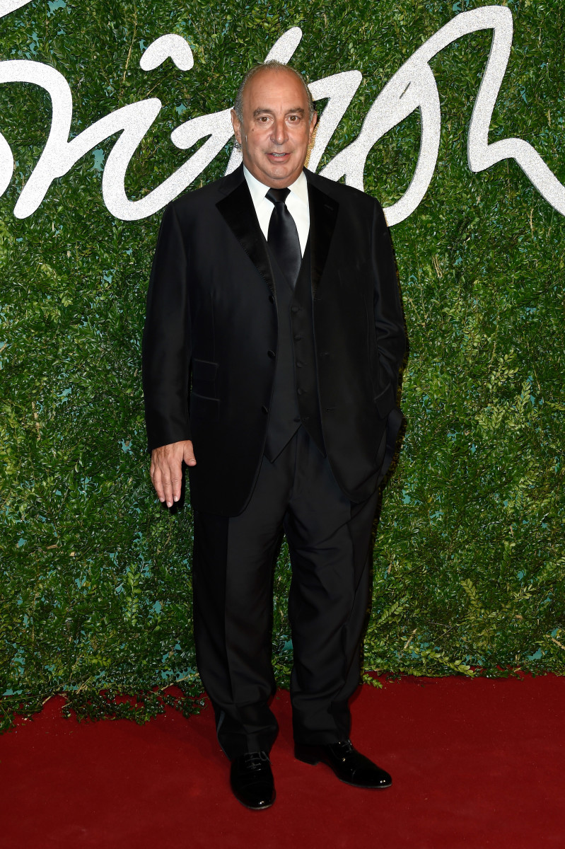 Sir Philip Green at the 2014 British Fashion Awards. Photo: Getty Images