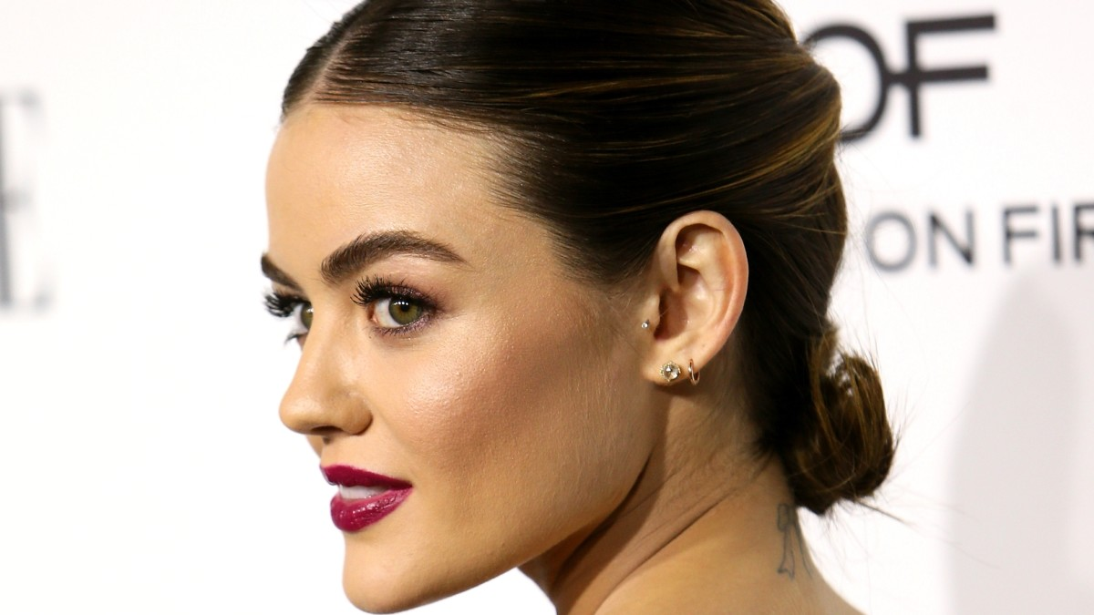 Lucy Hales Twisty Gold Wire Hairstyle Stood Out At The Elle