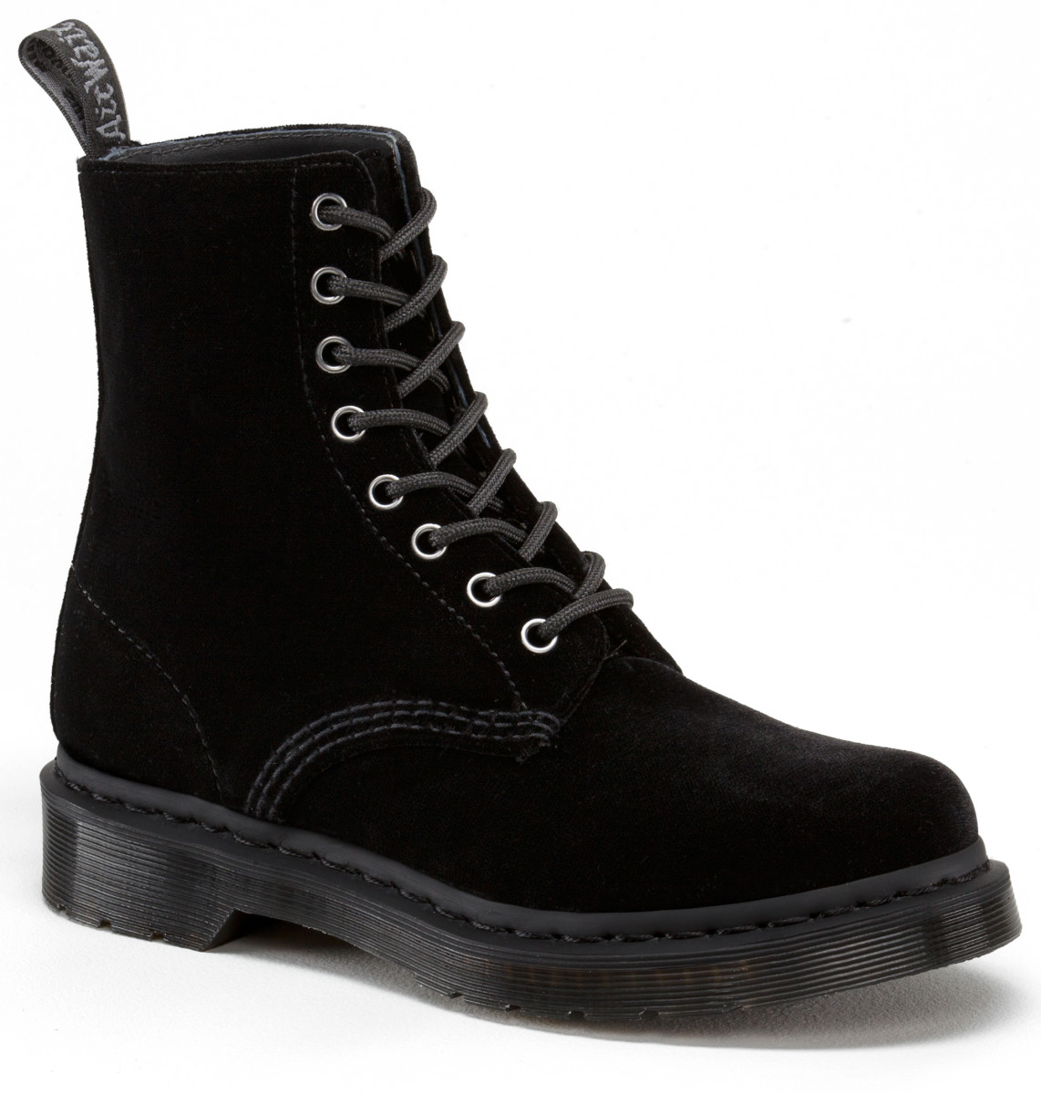 Dr. Martens Page Boot in Black Velvet, $70, available at Dr. Martens