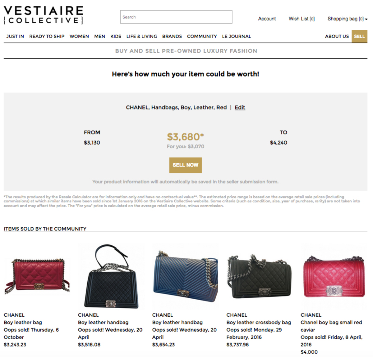 ab20df454bda New Tool Calculates the Average Resale Value of Designer Goods ...