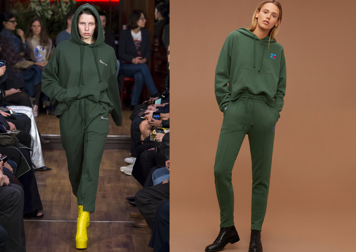 Left: Ventements Spring 2016; Right: Aritzia