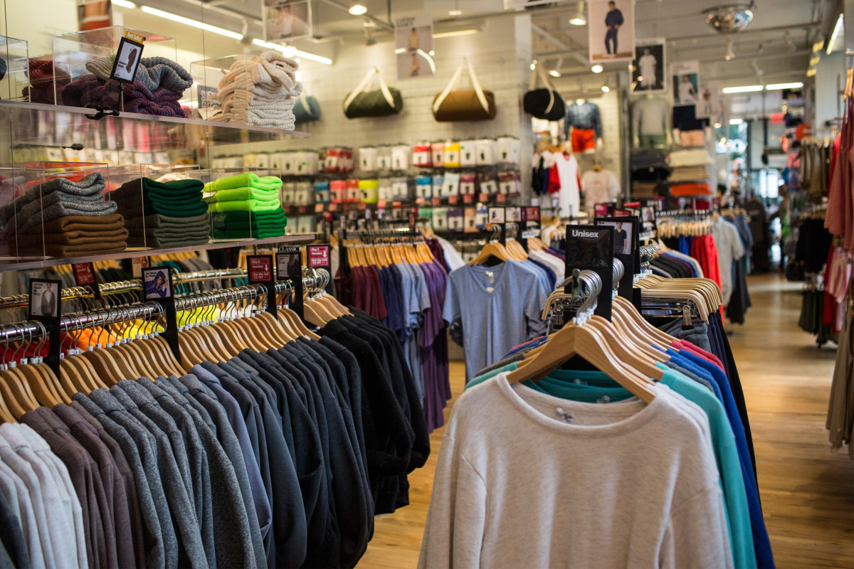Inside an American Apparel store in New York City. Photo: Andrew Burton/Getty Images
