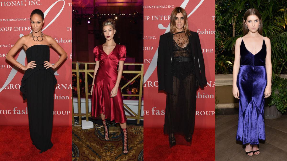 Joan Smalls, Hailey Baldwin, Carine Roitfeld, Anna Kendrick. Photos: Getty Images