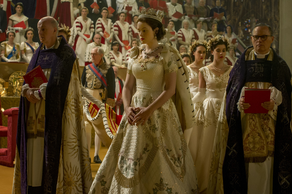 Queen Elizabeth's coronation. Photo: Netflix