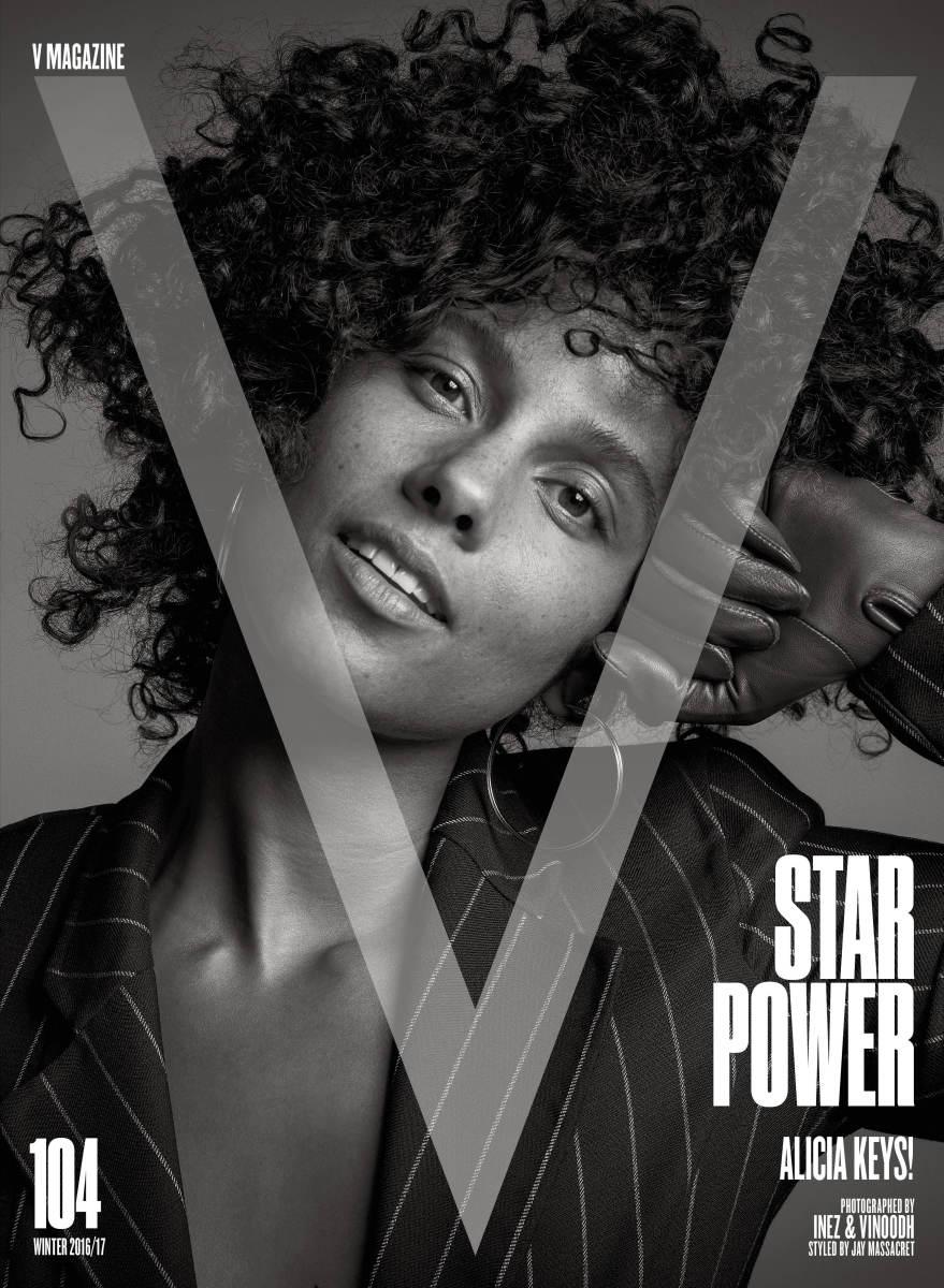 """Alicia Keys for """"V"""" Magazine. Photo: Inez & Vinoodh/V Magazine"""