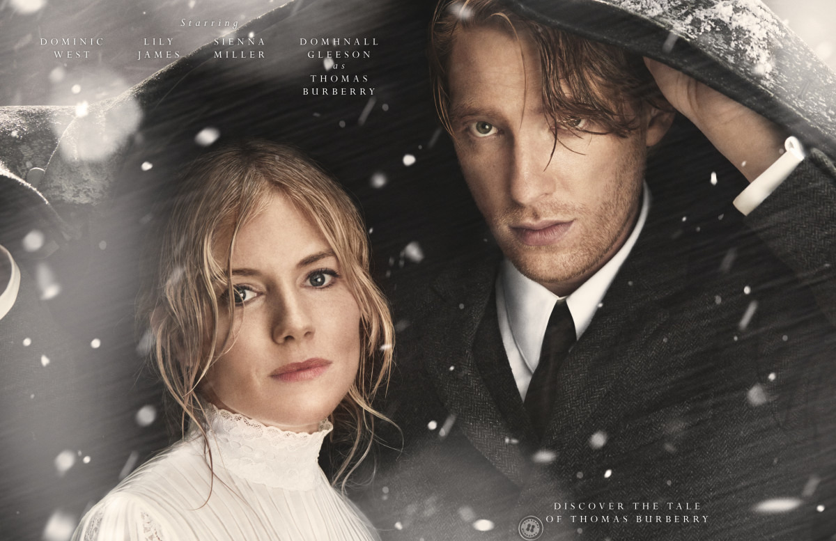 """Sienna Miller and Domhnall Gleeson in """"The Tale of Thomas Burberry."""" Photo: © Courtesy of Burberry"""