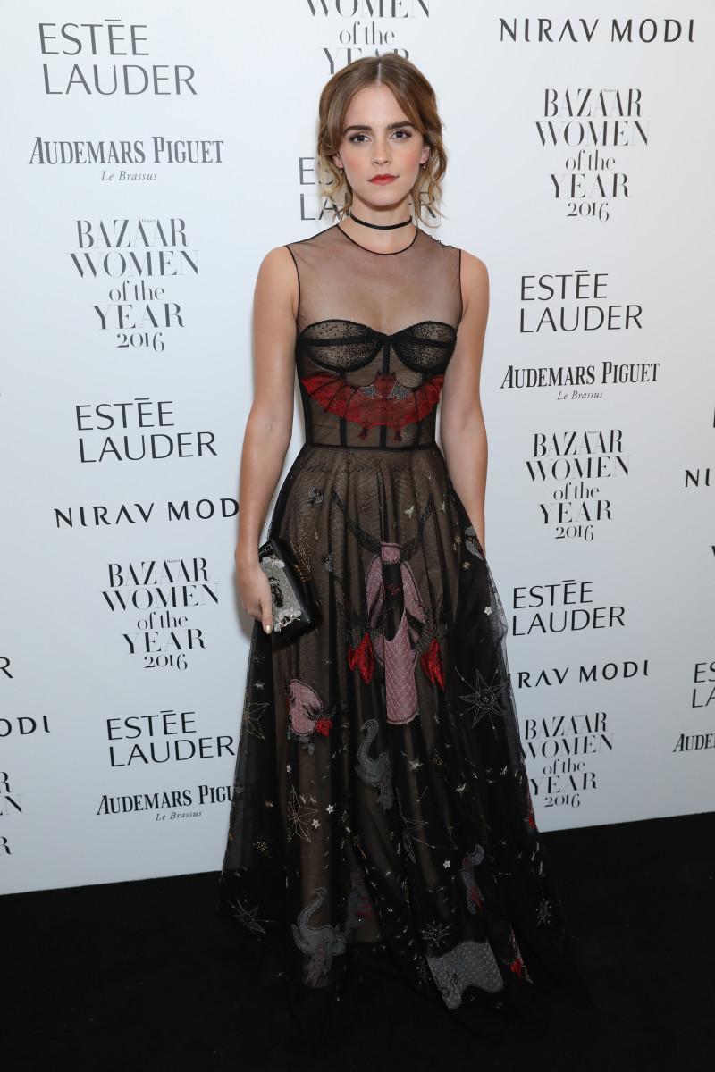 Emma Watson wearing Diorat the Harper's Bazaar Women of the Year Awards. Photo: Darren Gerrish/Getty Images