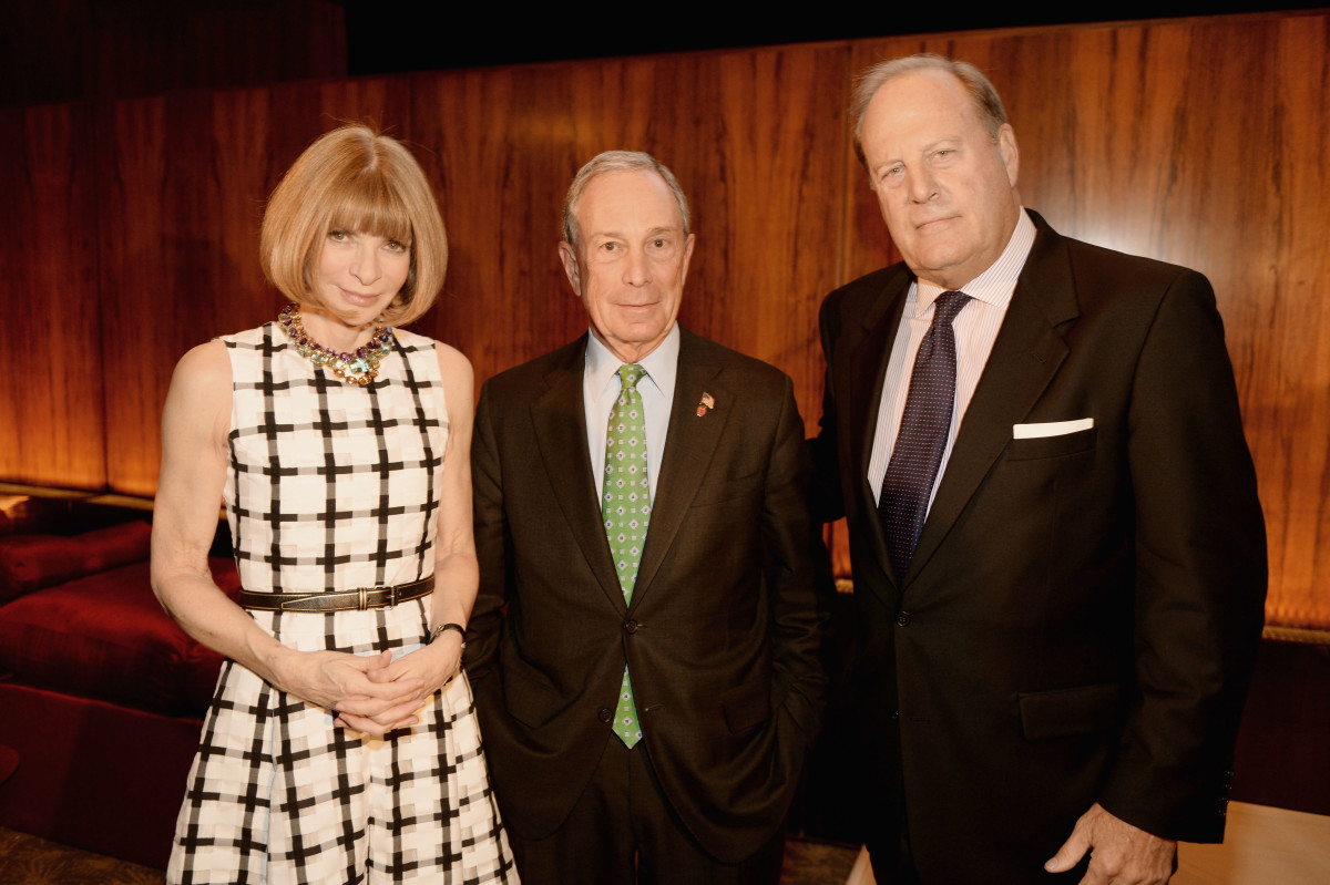 Anna Wintour, Michael Bloomberg and Chuck Townsend in April 2013 in New York City. Photo: Dimitrios Kambouris/Getty Images