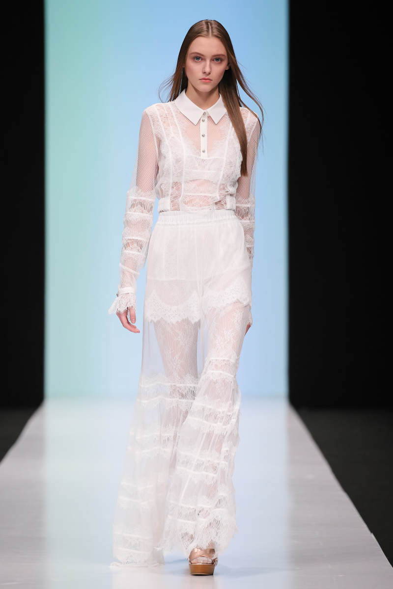A look from Laroom's spring 2017 collection. Photo: Oleg Nikishin/Epsilon/Getty Images