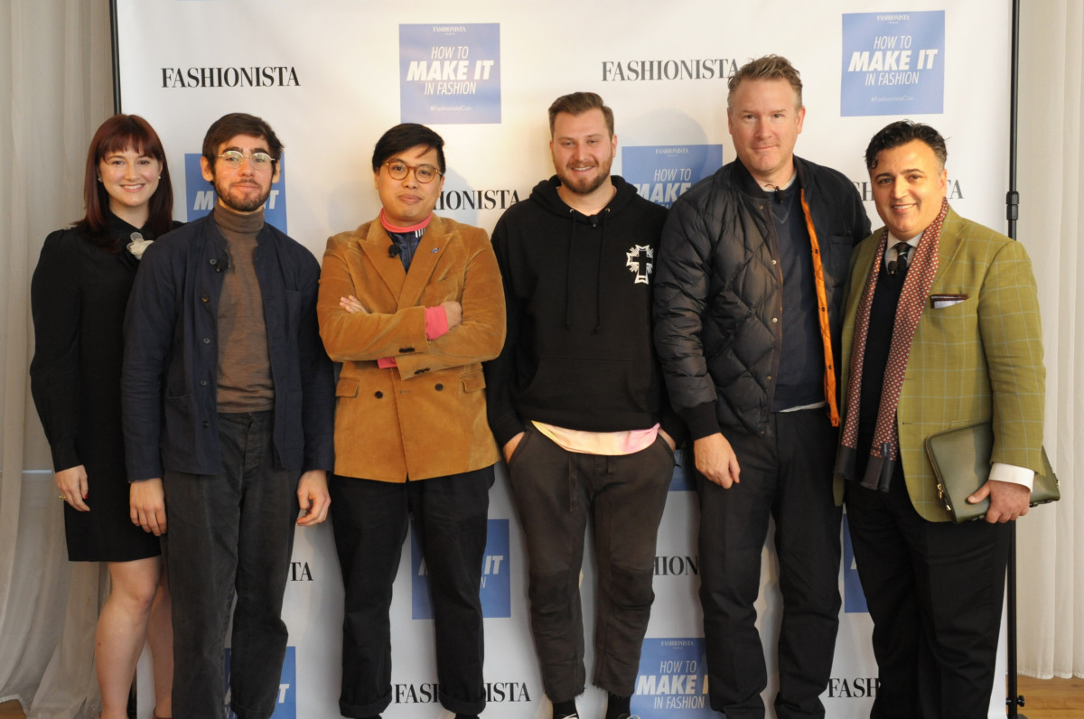 From left: Tyler McCall, Jacob Gallagher, Jian DeLeon, Lawrence Schlossman, Todd Snyder and Tom Kalenderian. Photo: Arnold Soshkin/Fashionista