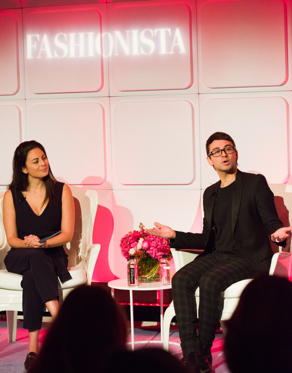 Fashionista Executive Editor Alyssa Vingan Klein and Christian Siriano. Photo: Arnold Soshkin/Fashionista
