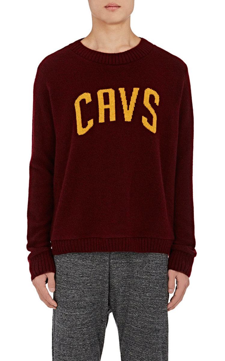 "The Elder Statesman x NBA ""Cavs"" cashmere sweater, $1,620, available at Barneys New York."