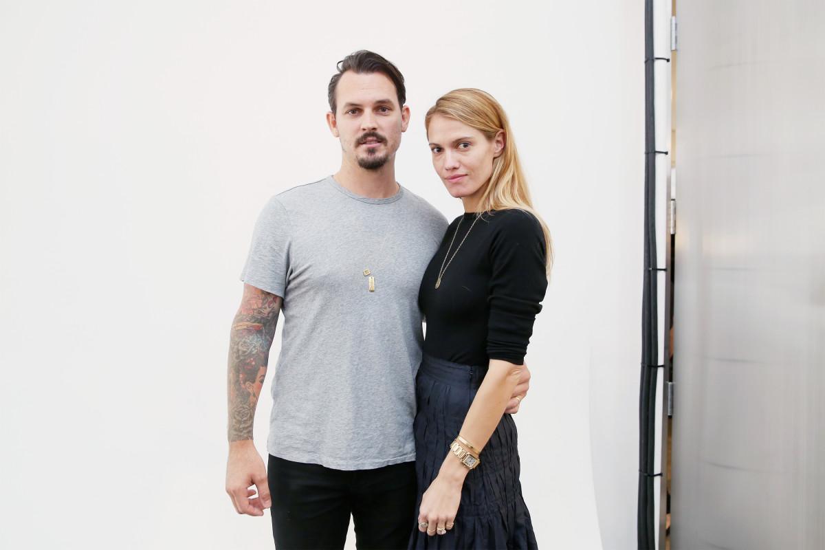 Designers Kristopher Brock and Laura Vassar. Photo: Mireya Acierto/Getty Images