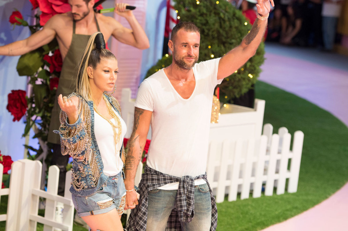 Fergie and Philipp Plein at the designer's spring 2017 show in Milan. Photo: Imaxtree