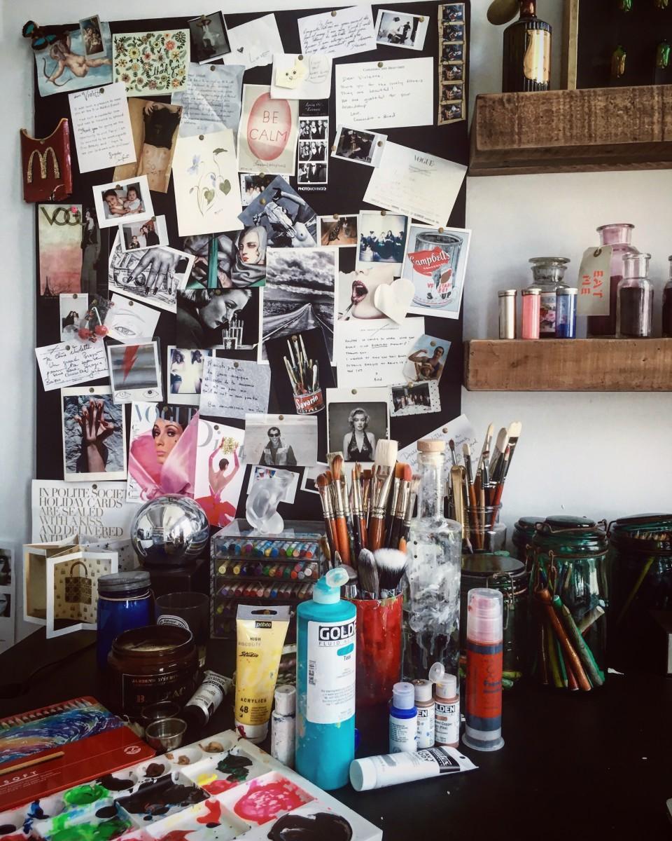 The makeup artist's home studio. Photo: Courtesy of Violette