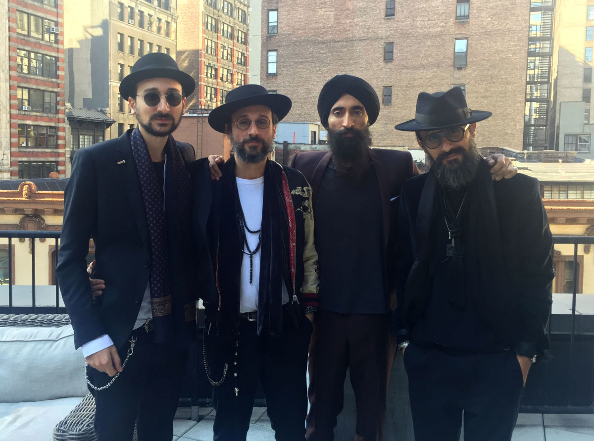 Raphael Elicha, Alexandre Elicha, Waris Ahluwalia and Laurent Elicha at the NoMad hotel. Photo: Dhani's iPhone
