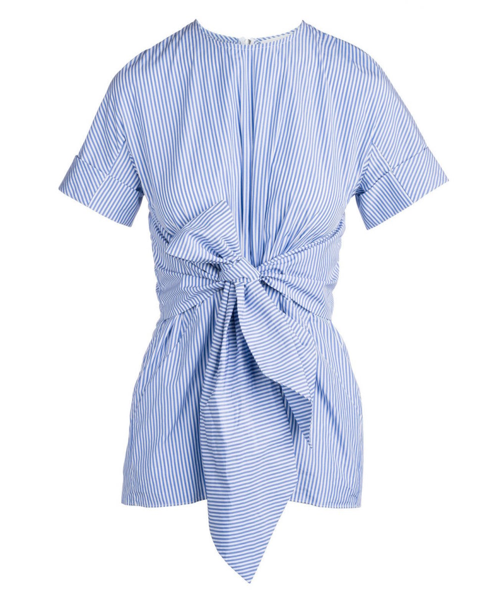 Kaelen cotton pleat front shirt, $156, available at Kaelen.