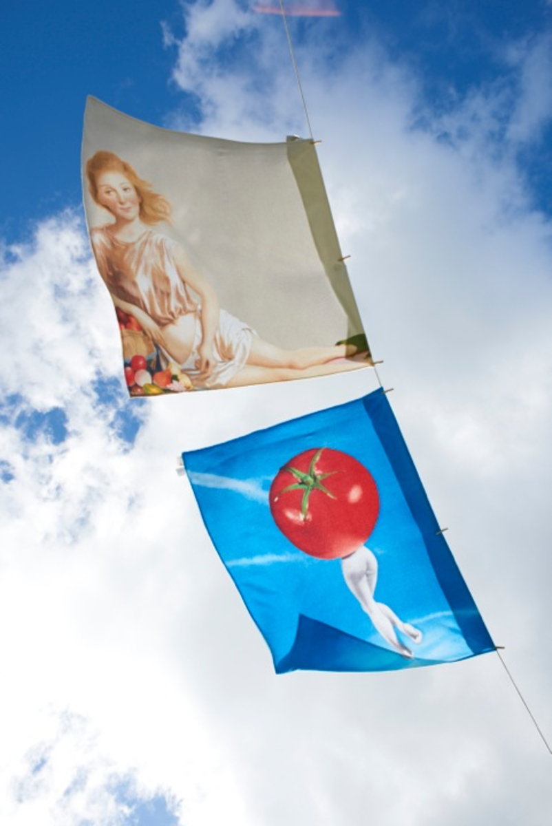Beach towel designs by designs by John Currin and Laurie Simmons from inside the December issue. Photo: Architectural Digest