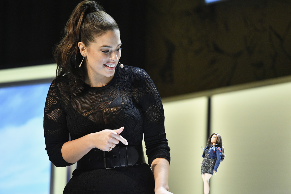 "Ashley Graham reveals the new Barbie at the ""Glamour"" Women of the Year 2016 Summit on Monday in Los Angeles. Photo: Mike Windle/Getty Images for ""Glamour"""