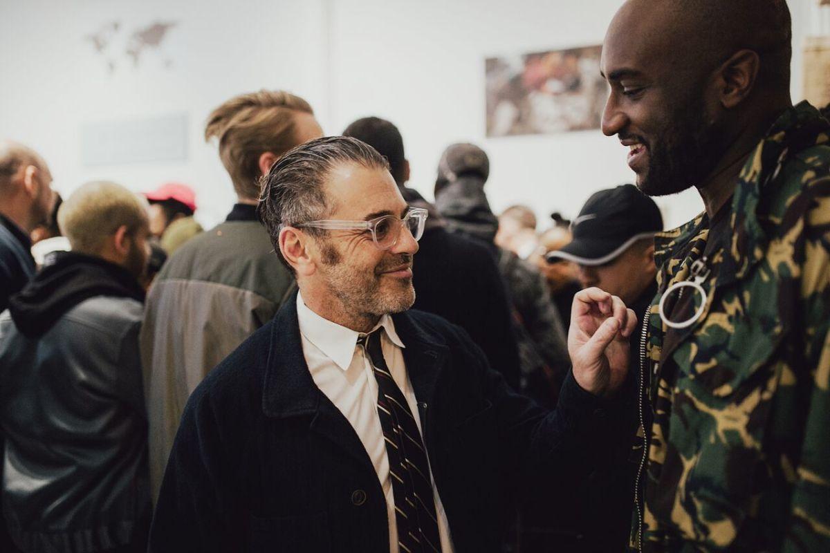 Tom Sachs with Virgil Abloh. Photo: Apolis