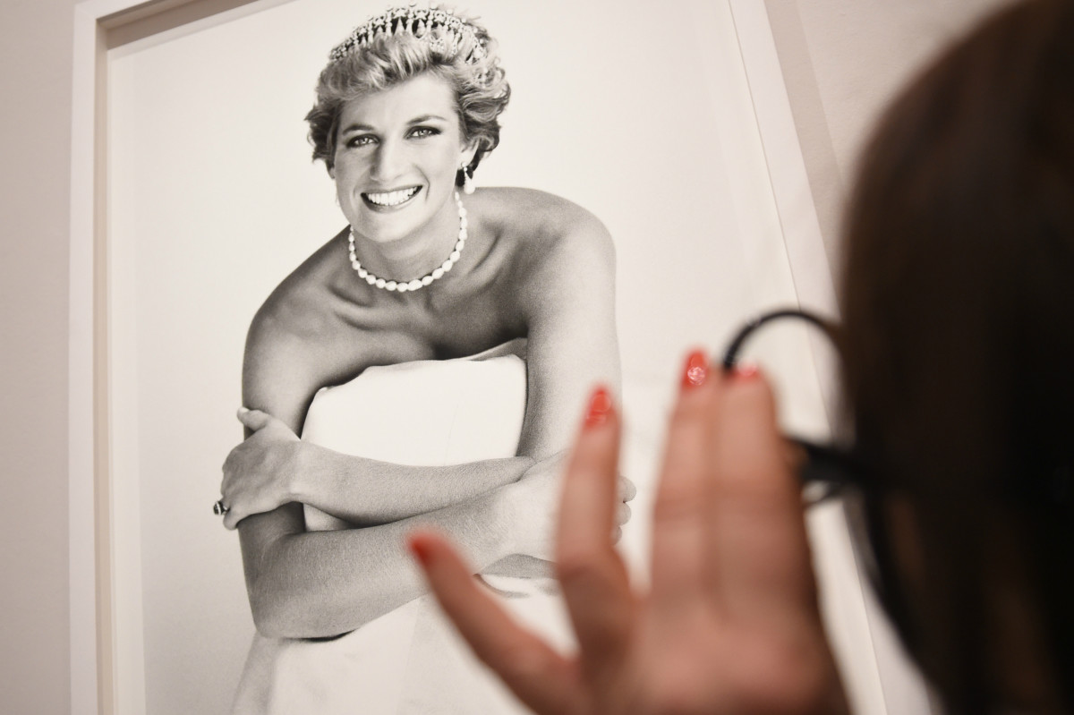 "An image of Princess Diana at the press preview for ""Vogue 100: A Century of Style"" in Feb. 2016 in London. Photo: Stuart C. Wilson/Getty Images"